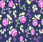 Fabric flowers wallpaper Stock Images