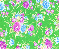 Fabric flowers wallpaper Royalty Free Stock Photos