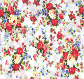 Fabric flowers wallpaper Stock Photos
