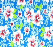 Fabric flowers wallpaper Stock Image
