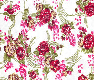 Fabric flowers wallpaper Stock Photography