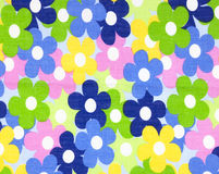 Fabric flowers wallpaper Royalty Free Stock Image