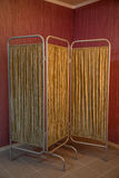 Fabric folding screen with a metal frame Royalty Free Stock Photos