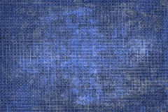 Fabric folds. Texture of natural fabric  blue Stock Image