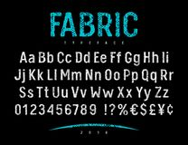 Free Fabric Font 001 Royalty Free Stock Photography - 107390667