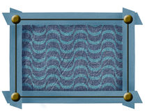 Fabric frame with metal buttons Stock Image