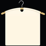 Fabric on garment hanger Stock Image