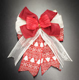 Fabric of gift bow Stock Image