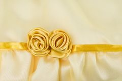Fabric gold rose Royalty Free Stock Photos