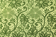 Fabric in green flowers, a background Royalty Free Stock Images