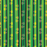 Fabric green yellow shiny bright  curtain with eye pattern Royalty Free Stock Photography