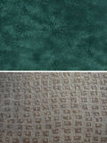 Fabric group - faux suede and geometric Stock Image
