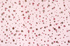 Fabric grunge christmas background with stars pattern Stock Photo