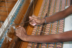 Fabric hand loom Stock Images
