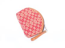 Fabric Handbags ,Bag for cosmetics Royalty Free Stock Image
