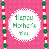 Fabric Happy Mothers Day Pink Design Royalty Free Stock Photo