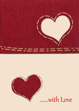 Fabric heart Stock Image