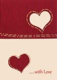 Fabric heart Stock Image