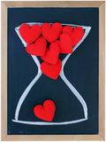 Fabric heart in hourglass Stock Image