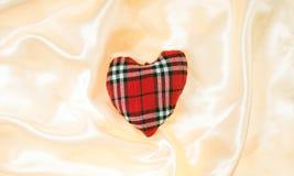Fabric heart Royalty Free Stock Photos