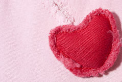 Fabric heart. Stock Images