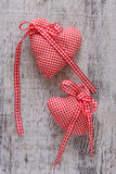 Fabric heart for Valentines day Stock Photos
