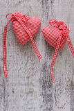 Fabric heart for Valentines day Stock Image