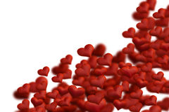 Fabric hearts Royalty Free Stock Images