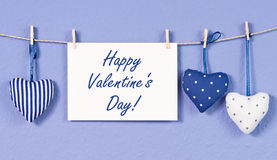 Fabric Hearts Decoration and Sign Stock Image