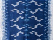 The fabric is indigo dye background Royalty Free Stock Photography
