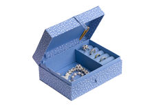 Fabric jewelry box Stock Image