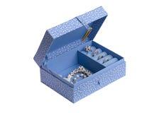 Fabric jewelry box. A beautiful fabric jewelry box Stock Image