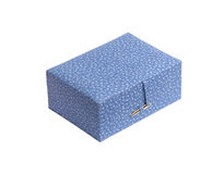 Fabric jewelry box Stock Photo