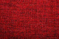 Fabric knitted red wool background Stock Photography