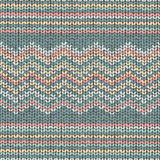Fabric knitted texture, zigzag seamless pattern Stock Photos