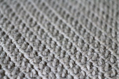Fabric, knitted from yarn, selective focus Stock Photography