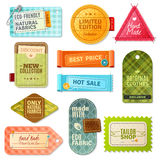 Fabric Label Set Royalty Free Stock Photography