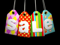 Fabric labels with SALE Royalty Free Stock Images