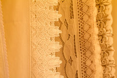 Fabric with lace Royalty Free Stock Photos