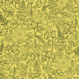 Fabric lace flowers seamless pattern background Royalty Free Stock Photography