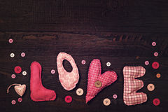 Fabric letters love Royalty Free Stock Photography