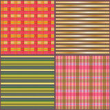 Fabric line frame set seamless pattern Stock Photo