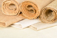 Fabric of linen Royalty Free Stock Photos