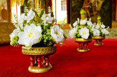 Fabric lotus flower deciration Stock Images