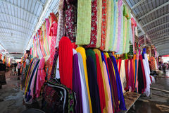 Fabric market Stock Photo