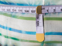 Fabric with measure tape Stock Photography