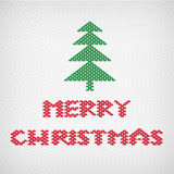 Fabric merry christmas background Vector Illustration
