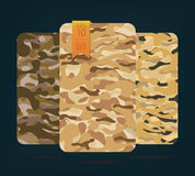 The fabric on military camouflage on background Stock Image
