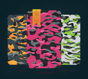The fabric on military camouflage on background. Military pattern Royalty Free Stock Image