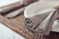 Fabric napkin Royalty Free Stock Images